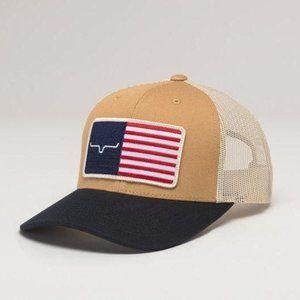 Kimes Ranch American Trucker Hat - Work Wear Brown